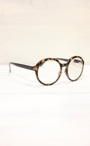 OVERSIZED TORTOISE READING GLASSES