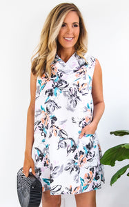 FLORAL COWL TUNIC