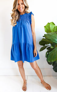 ELLE LAIN -HADLEIGH DRESS - OCEAN BLUE