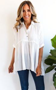 ELLE LAIN - COSTA BUTTON DOWN - WHITE