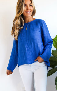 TELL TAIL TOP - COBALT