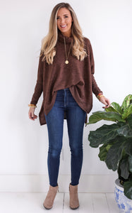 BILLYE TUNIC - CHOCOLATE