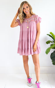 CASSIDY DRESS - DUSTY ROSE