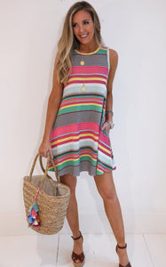 ELLE LAIN - ELI STRIPE DRESS