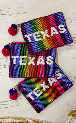 BEADED TEXAS POUCH