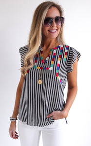 LORETO STRIPE TOP