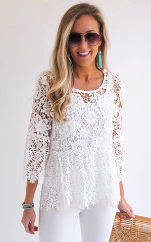 LAUREL LACE TOP