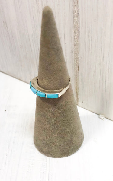 STERLING SILVER & TURQUOISE BAND