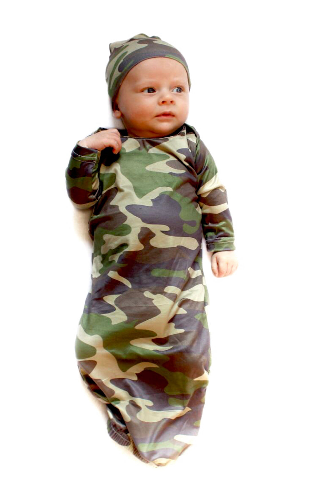 CAMO BABY GOWN - 0-3 MONTHS