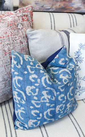 UNIQUE MUDCLOTH PILLOWS - BLUE