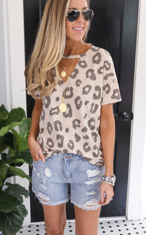 ELLE LAIN - SHARON LEOPARD TOP