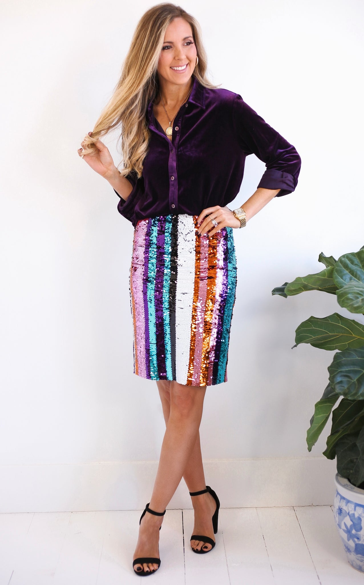 ELLE LAIN - DARLING SEQUIN SKIRT