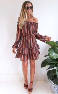 ELLE LAIN - LEENA DRESS - RUST