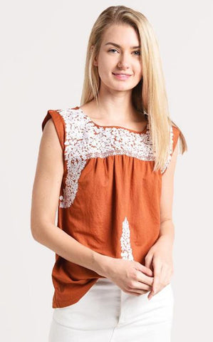 RAINEY TOP - ORANGE