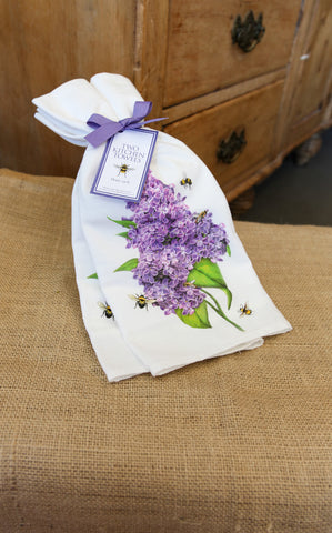 FLOUR SACK TOWEL SET - LILAC