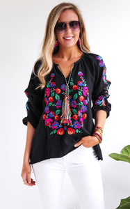MARY NELL TOP - BLACK - PRE ORDER