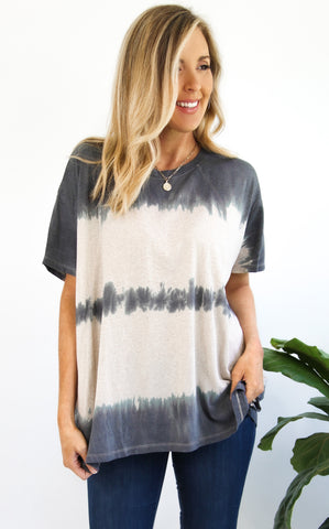 DEVYN FADED TUNIC - ASH