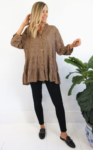 YADA LEOPARD TUNIC - PLUS