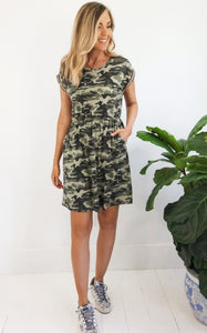 BRAIDED CAMO DRESS