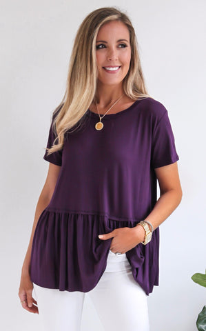 LARNA TOP - PURPLE