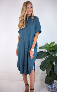 ELLE LAIN - PAJIA TEAL DRESS