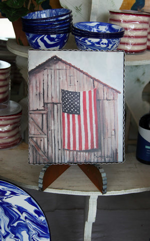 PIE CRUST ART - BARN FLAG