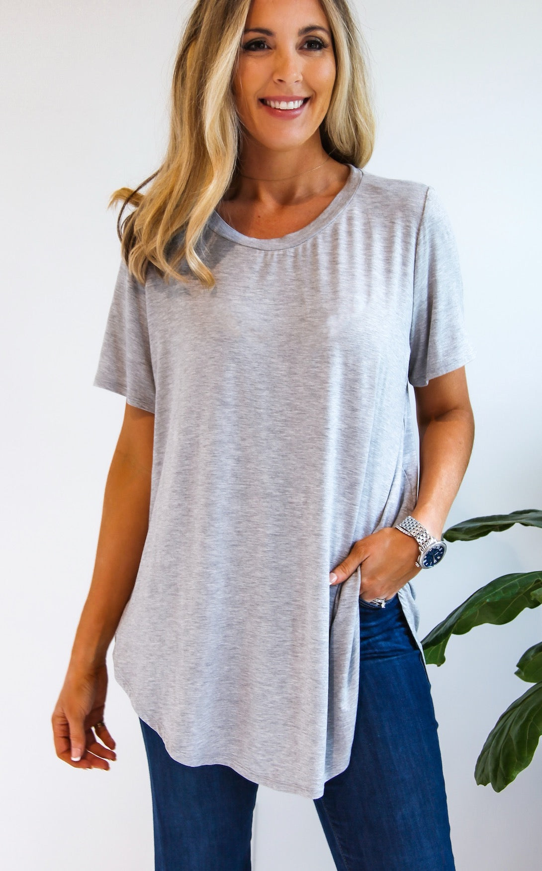 ELLE LAIN - CHIP TEE - GREY