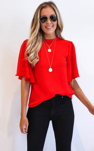 ELLE LAIN - FRYER RUFFLE SLEEVE TOP