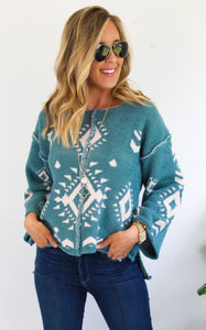 DELROSE PULLOVER - LIGHT TEAL