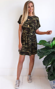 ELLE LAIN - JENNIFER CAMO DRESS