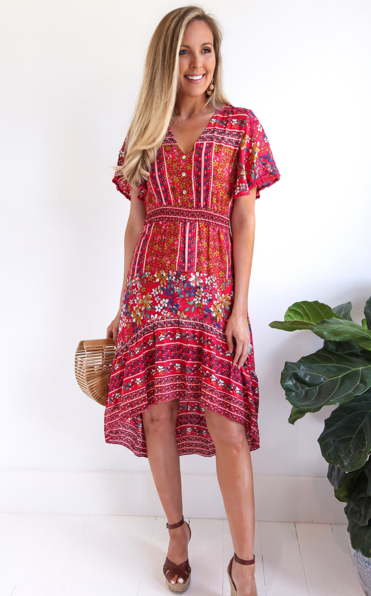 ELLE LAIN - ALLY DRESS - RED