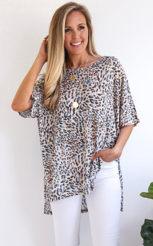 CARTER LEOPARD TOP