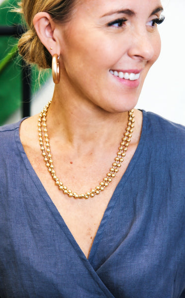 CANNA 2 STRAND GOLD BALL NECKLACE