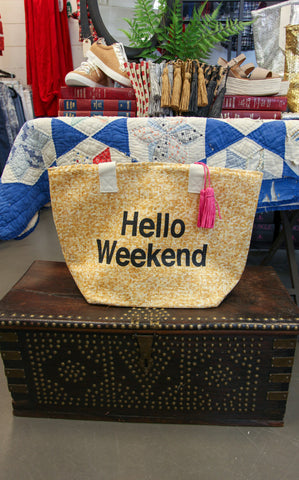 HELLO WEEKEND TOTE - INSULATED