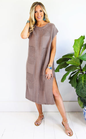 ELLE LAIN - JENNY KNIT DRESS - MOCHA