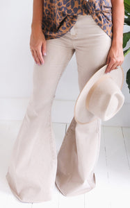 ROCK STAR FLARES - TAUPE