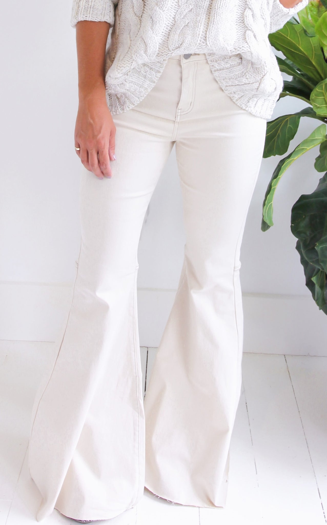 ROCK STAR FLARES - CREAM