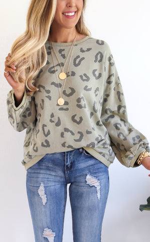 ANNECY LEOPARD PULLOVER