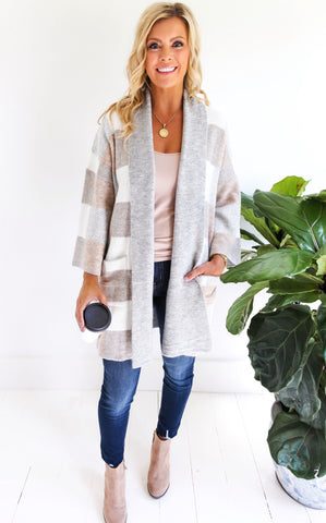 ANNA PLAID CARDIGAN