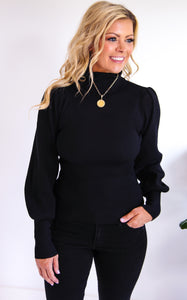 ELLE LAIN - POWER TURTLENECK - BLACK