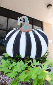 STRIPED PUMPKIN STAKE WIDE + INCLUDES SHIPPING - PRE ORDER