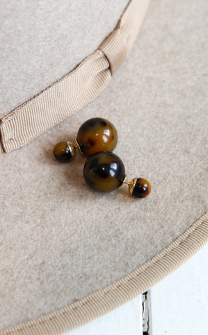 DOUBLE BALL STUDS - TORTOISE