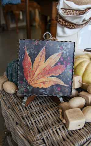 MINI PIE CRUST ART -  FALL LEAF
