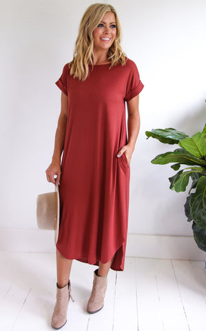 SIENNA MAXI DRESS - RUST