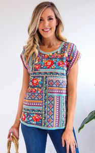 VALERIE EMBROIDERED TOP