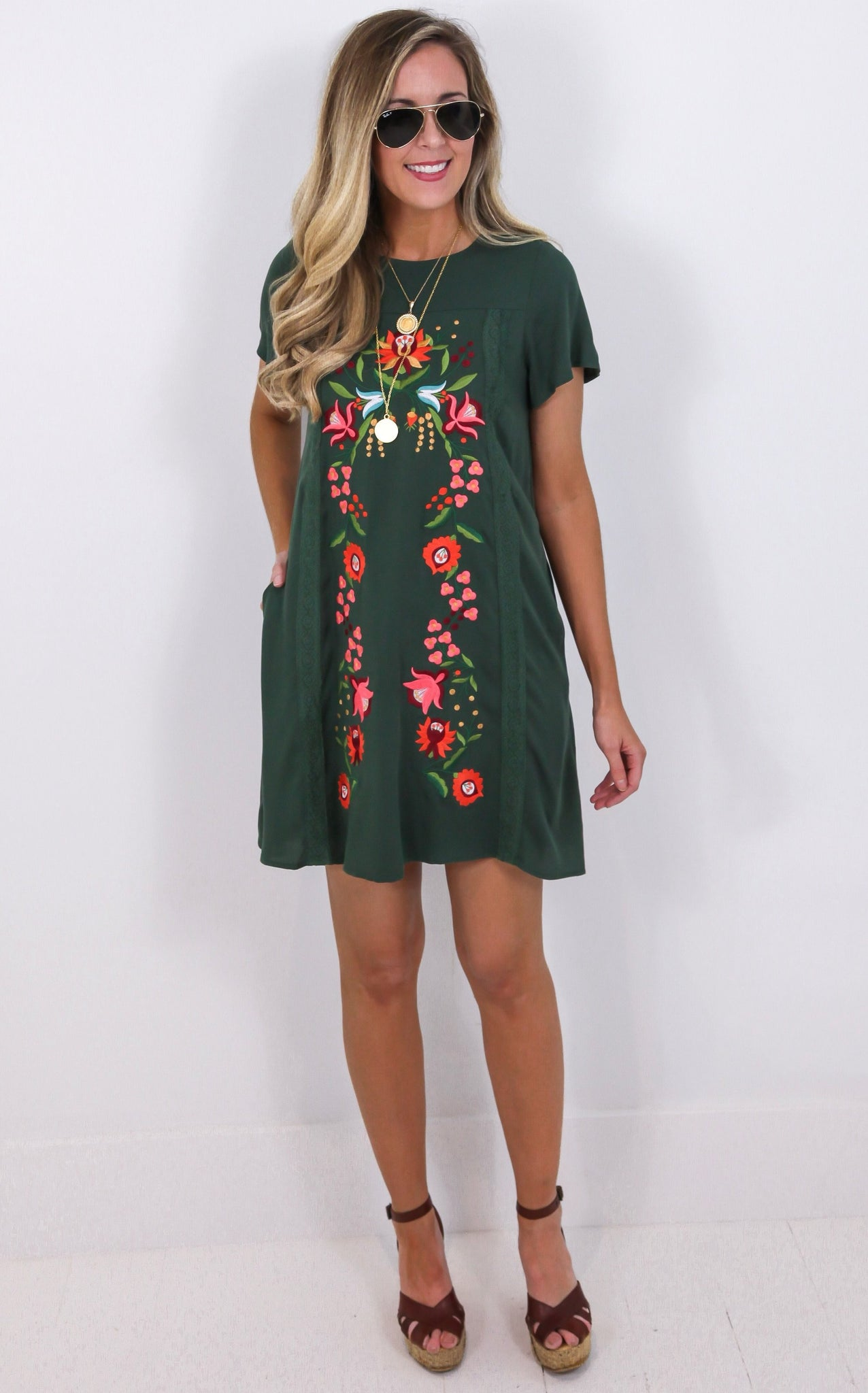 ELLE LAIN - HARLYN EMBROIDERED DRESS