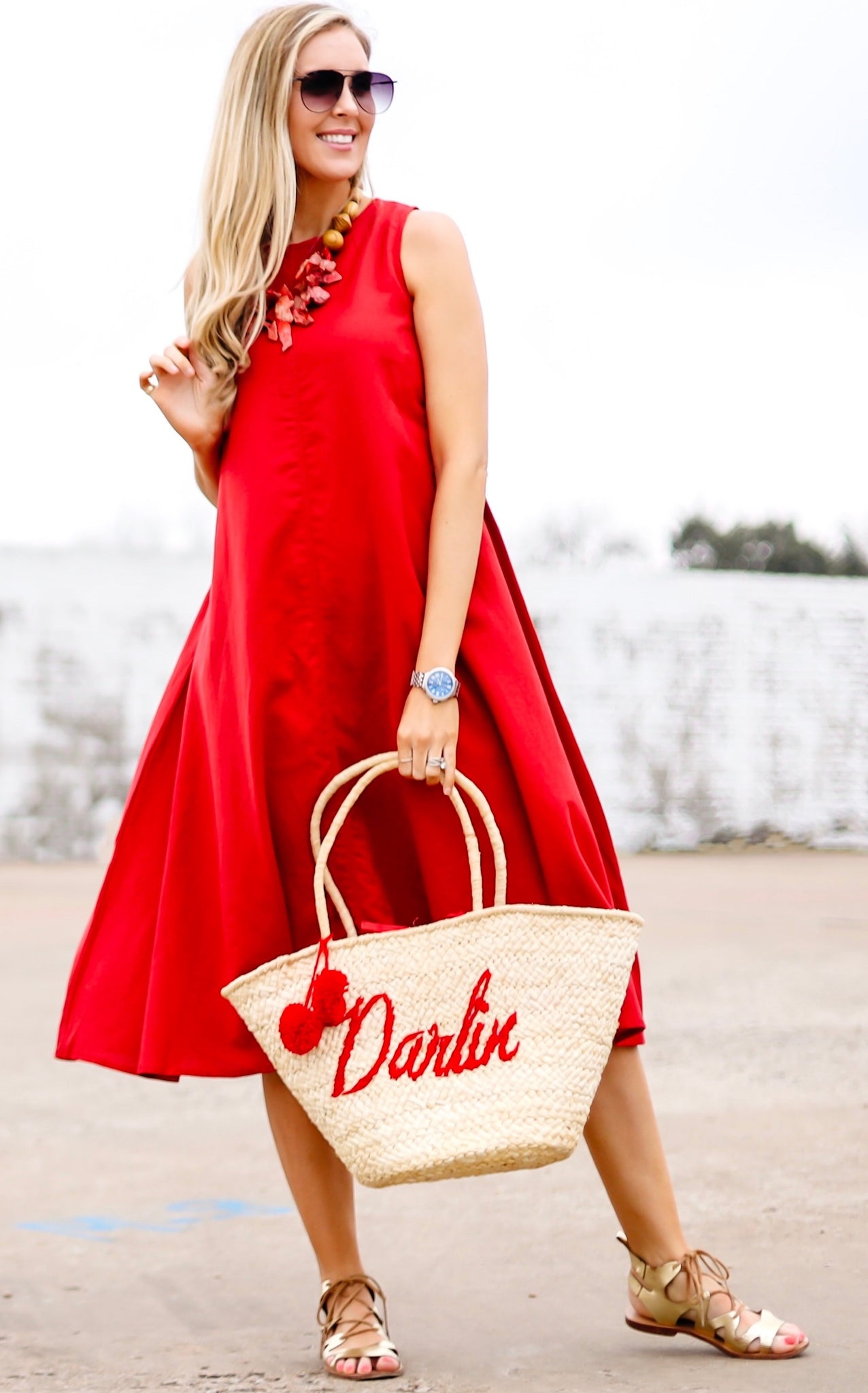 SHARI DRESS - RED