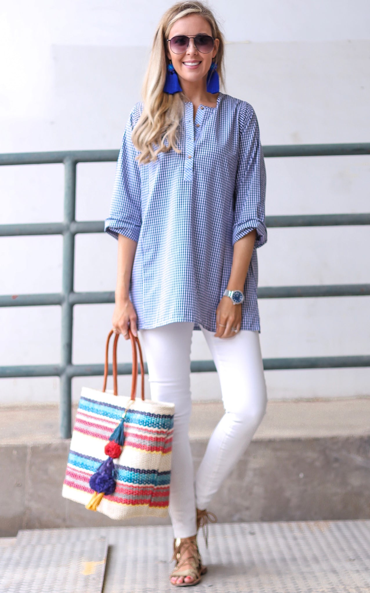 GINGHAM NELLIE - BLUE