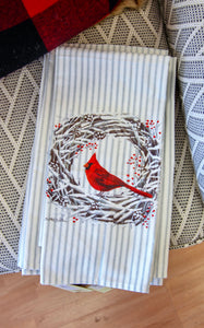 CARDINAL WREATH TOWEL
