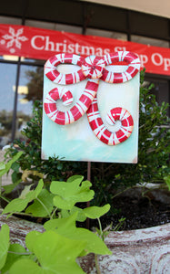 CANDY CANE GIFT STAKE - CREAM - INCLUDES ADDITIONAL SHIPPING